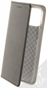 1Mcz Magnet Book flipové pouzdro pro Apple iPhone 12 Pro Max černá (black)