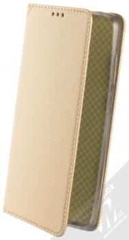1Mcz Magnet Book flipové pouzdro pro Xiaomi Redmi Note 9 zlatá (gold)