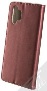 1Mcz Magnetic Book flipové pouzdro pro Samsung Galaxy A32 5G tmavě červená (dark red) zezadu