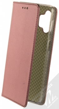 1Mcz Magnetic Book flipové pouzdro pro Samsung Galaxy A32 5G tmavě červená (dark red)