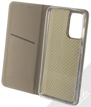 1Mcz Magnetic Book flipové pouzdro pro Samsung Galaxy A52, Galaxy A52 5G tmavě zelená (dark green) otevřené
