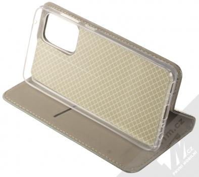 1Mcz Magnetic Book flipové pouzdro pro Samsung Galaxy A52, Galaxy A52 5G tmavě zelená (dark green) stojánek