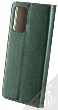 1Mcz Magnetic Book flipové pouzdro pro Samsung Galaxy A52, Galaxy A52 5G tmavě zelená (dark green) zezadu