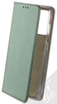 1Mcz Magnetic Book flipové pouzdro pro Samsung Galaxy A52, Galaxy A52 5G tmavě zelená (dark green)