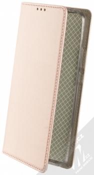 1Mcz Magnetic Book flipové pouzdro pro Xiaomi Redmi 9 růžově zlatá (rose gold)