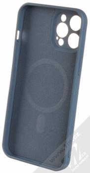 1Mcz MagSilicone TPU ochranný kryt s MagSafe pro Apple iPhone 12 Pro Max tmavě modrá (dark blue) zepředu