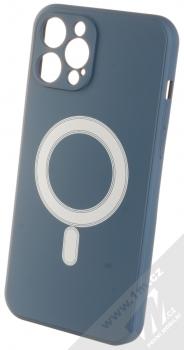 1Mcz MagSilicone TPU ochranný kryt s MagSafe pro Apple iPhone 12 Pro Max tmavě modrá (dark blue)