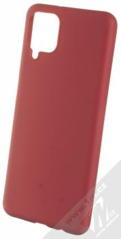 1Mcz Matt TPU ochranný silikonový kryt pro Samsung Galaxy A12 tmavě červená (dark red)