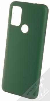1Mcz Matt TPU ochranný silikonový kryt pro Motorola Moto G10, Moto G10 Power, Moto G30 tmavě zelená (forest green)