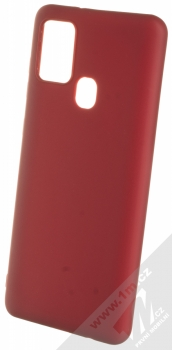 1Mcz Matt TPU ochranný kryt pro Samsung Galaxy A21s tmavě červená (dark red)