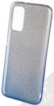 1Mcz Shining Duo TPU třpytivý ochranný kryt pro Xiaomi Redmi 9T, Poco M3 stříbrná modrá (silver blue)