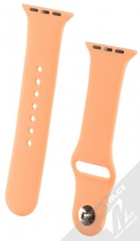 1Mcz Silikonový sportovní řemínek pro Apple Watch 38mm, Watch 40mm broskvově oranžová (peach)