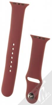 1Mcz Silikonový sportovní řemínek pro Apple Watch 42mm, Watch 44mm burgundská červená (burgundy red)