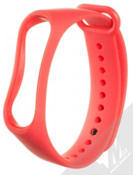 1Mcz Single Color Strap silikonový pásek na zápěstí pro Xiaomi Mi Band 3, Mi Band 4 červená (red)