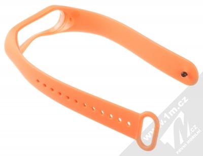 1Mcz Single Color Strap silikonový pásek na zápěstí pro Xiaomi Mi Band 3, Mi Band 4 oranžová (orange) rozepnuté zezadu