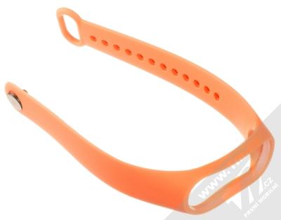 1Mcz Single Color Strap silikonový pásek na zápěstí pro Xiaomi Mi Band 3, Mi Band 4 oranžová (orange) rozepnuté