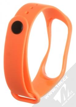 1Mcz Single Color Strap silikonový pásek na zápěstí pro Xiaomi Mi Band 3, Mi Band 4 oranžová (orange) zezadu