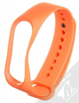 1Mcz Single Color Strap silikonový pásek na zápěstí pro Xiaomi Mi Band 3, Mi Band 4 oranžová (orange)