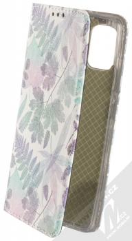 1Mcz Trendy Book Měňavé listí 2 flipové pouzdro pro Samsung Galaxy A51 bílá (white)
