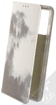 1Mcz Trendy Book Temný les v mlze 2 flipové pouzdro pro Samsung Galaxy S20 FE, Galaxy S20 FE 5G bílá (white)