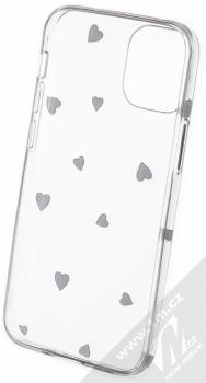 1Mcz Trendy Černá srdíčka TPU ochranný kryt pro Apple iPhone 12 mini průhledná (transparent) zepředu