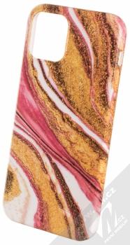 1Mcz Trendy Mramor TPU ochranný kryt pro Apple iPhone 12, iPhone 12 Pro zlatá růžová (gold pink)
