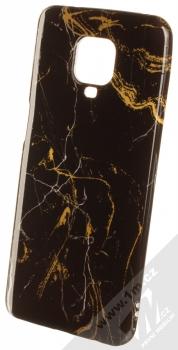 1Mcz Trendy Mramor TPU ochranný kryt pro Xiaomi Redmi Note 9 Pro, Redmi Note 9 Pro Max, Redmi Note 9S černá zlatá (black gold)