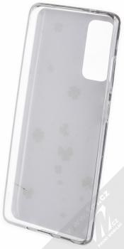 1Mcz Trendy Trojlístky a Čtyřlístky TPU ochranný kryt pro Samsung Galaxy S20 FE bílá (white) zepředu