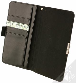 4smarts Ultimag Wallet Norwalk Croco do 5,8 univerzální flipové pouzdro stříbrná (silver) otevřené