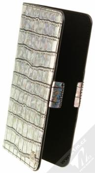 4smarts Ultimag Wallet Norwalk Croco do 5,8 univerzální flipové pouzdro stříbrná (silver)
