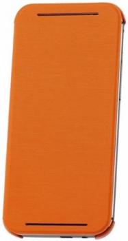HTC HC V941 originální pevné pouzdro s flipem pro HTC One (M8), One M8s oranžová (orange)