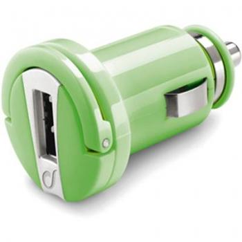 CellularLine Micro USB Smart nabíječka do auta s USB výstupem zelená (green)