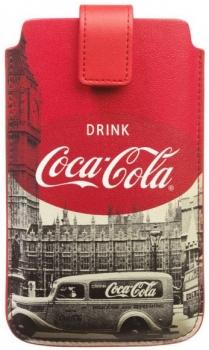 Coca Cola City Cab Sleeve XL kožené pouzdro pro mobilní telefon, mobil, smartphone red