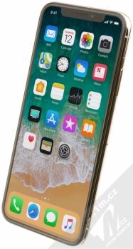 APPLE iPHONE X 64GB stříbrná (silver) šikmo zepředu