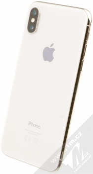 APPLE iPHONE X 64GB stříbrná (silver) šikmo zezadu