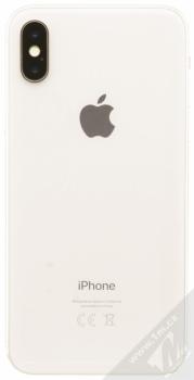 APPLE iPHONE X 64GB stříbrná (silver) zezadu