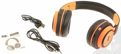 ART AP-B04-C Bluetooth Stereo headset černá oranžová (black orange) balení
