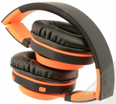 ART AP-B04-C Bluetooth Stereo headset černá oranžová (black orange) složené