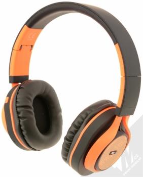 ART AP-B04-C Bluetooth Stereo headset černá oranžová (black orange) zezadu