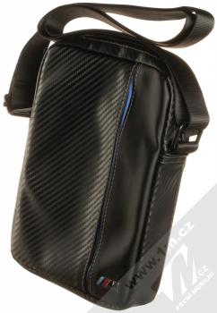 BMW M Carbon Vertical Tablet Book pouzdro brašna pro tablet do 8 palců (BMTB8CAPNBK) černá modrá (black blue)
