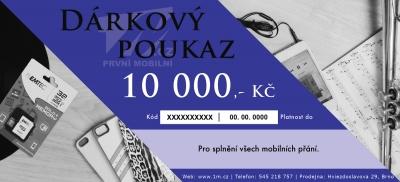 Dárkový poukaz 1M.cz na částku 10000,- Kč s motivem Muzikofil detail