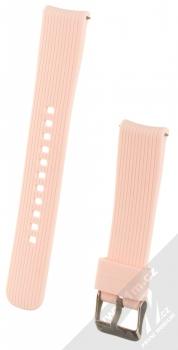 Devia Deluxe Sport Band Straight silikonový pásek na zápěstí s univerzální osičkou 20mm růžová (pink)