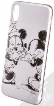 Disney Mickey & Minnie 010 TPU ochranný silikonový kryt s motivem pro Apple iPhone XS Max bílá (white)