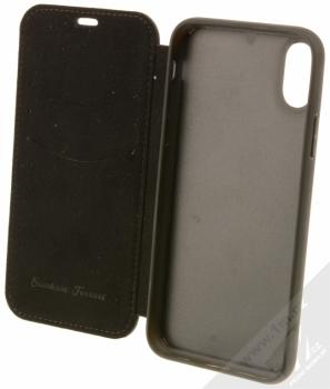Ferrari Off Track flipové pouzdro pro Apple iPhone X (FEHDEFLBKPXBK) černá (black) otevřené