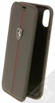 Ferrari Off Track flipové pouzdro pro Apple iPhone X (FEHDEFLBKPXBK) černá (black)