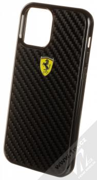 Ferrari Scuderia Carbon ochranný kryt pro Apple iPhone 12, iPhone 12 Pro (FERCAHCP12MBK) černá (black)