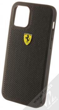 Ferrari Scuderia Perforated Leather ochranný kryt pro Apple iPhone 12, iPhone 12 Pro (FESPEHCP12MBK) černá (black)
