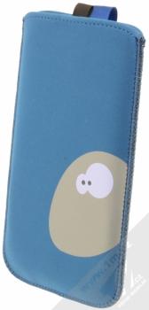 Fixed Velvet 4XL pouzdro pro mobilní telefon, mobil, smartphone (FIXVEL-053-4XL) modrá dinosaurus (blue) zezadu