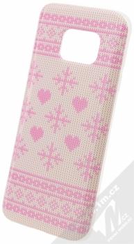 Flavr Ugly Xmas Sweater ochranný kryt s motivem pleteného svetru pro Samsung Galaxy S7 růžová (pink)