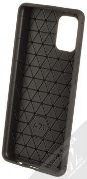 Forcell Carbon ochranný kryt pro Samsung Galaxy A71 černá (black) zepředu